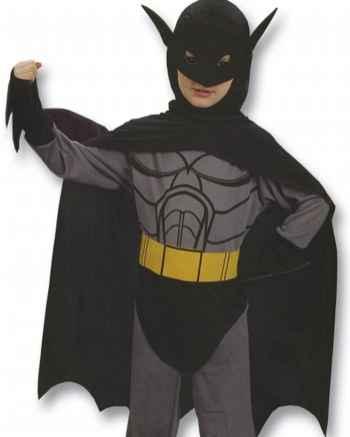 Детский карнавальный костюм Бэтмена с желтым поясом, артикул 88761-М, код 97146, фирма Лапландия, на 7-10 лет