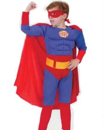 Костюм Супермена с мускулатурой, детский карнавальный костюм персонажа фильма Супергероя Super Hero, артикул 87129-L,  код 11355, фирма Лапландия, на 11-14 лет, детские карнавальные костюмы, маскарадные костюмы для мальчика