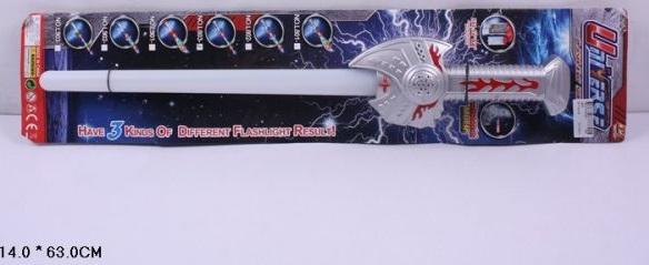 Меч Джедаев, светящийся лазерный джедайский меч, игрушечное оружие на батарейках со светом и звуком,  на картонке, код 158548, артикул L803 T810-H24001, фирма Лапландия. Прекрасный аксессуар к новогодним карнавальным, маскарадным костюмам джедаев, к костюму Дарта Вейдера, к карнавальным костюмам звездных летчиков, астронавтов,  Энекена, Люка Скайуокера, магистра Йоды, игрушечный лазерный меч со звуком и светом. Дополнение к костюмам геров