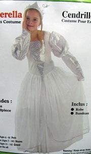 детский карнавальный костюм ПРИНЦЕССЫ,  костюм Золушки, Синдереллы, костюм Снежинки, артикул 8765-S, код 34387, фирмы Лапландия, на 4-6 лет