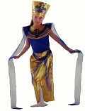 Нарядный египетский детский карнавальный костюм Королевы Нила, костюм Нефертити, костюм египетской красавицы, Код: 54909, Артикул: 8797-L,  фирма Лапландия, Карнавальный костюм для девочек школьниц подростков. размер на 11-14 лет