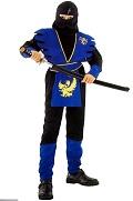 Карнавальный костюм Синий Ниндзя для мальчика, маскарадный костюм японского воина для дошкольника, артикул 88396-S, код 34405, фирма Лапландия, на 4-6 лет