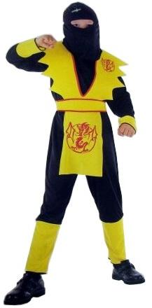 Детский карнавальный костюм  ниндзя желтый Дракон, код 34406, артикул  88397-М, на 7-10 лет, фирма Лапландия