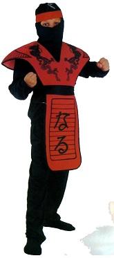 Костюм Красный Ниндзя -  Победитель Дракона,  костюм Самурай, японский воин, Артикул: 88891-L (36), Код: 40871, на 11-14 лет