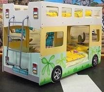 2-х ярусная кровать-автобус для двух детей, кровать для двойни, кровать для погодок,