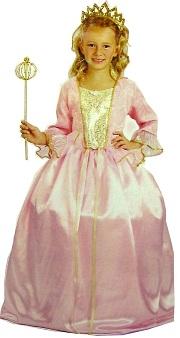Костюм Принцессы, детский карнавальный костюм, розовое пышное бальное платье, шелковистый струящийся материал, отделка золотой парчой, нижняя юбка с каркасом, артикул 85362, размер L на 7-10 лет, фирма Лапландия.