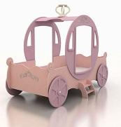 Кровать - карета  Принцессы, материал МДФ,  розовая кровать  для девочек, кокосовый матрас в комплекте.  Шикарный подарок в спальню настоящей Принцессы. Комфортная и удивительно красивая кровать для девочек. Сказочная детская кровать в виде кареты Золушки. Размер спального места 190х90 см