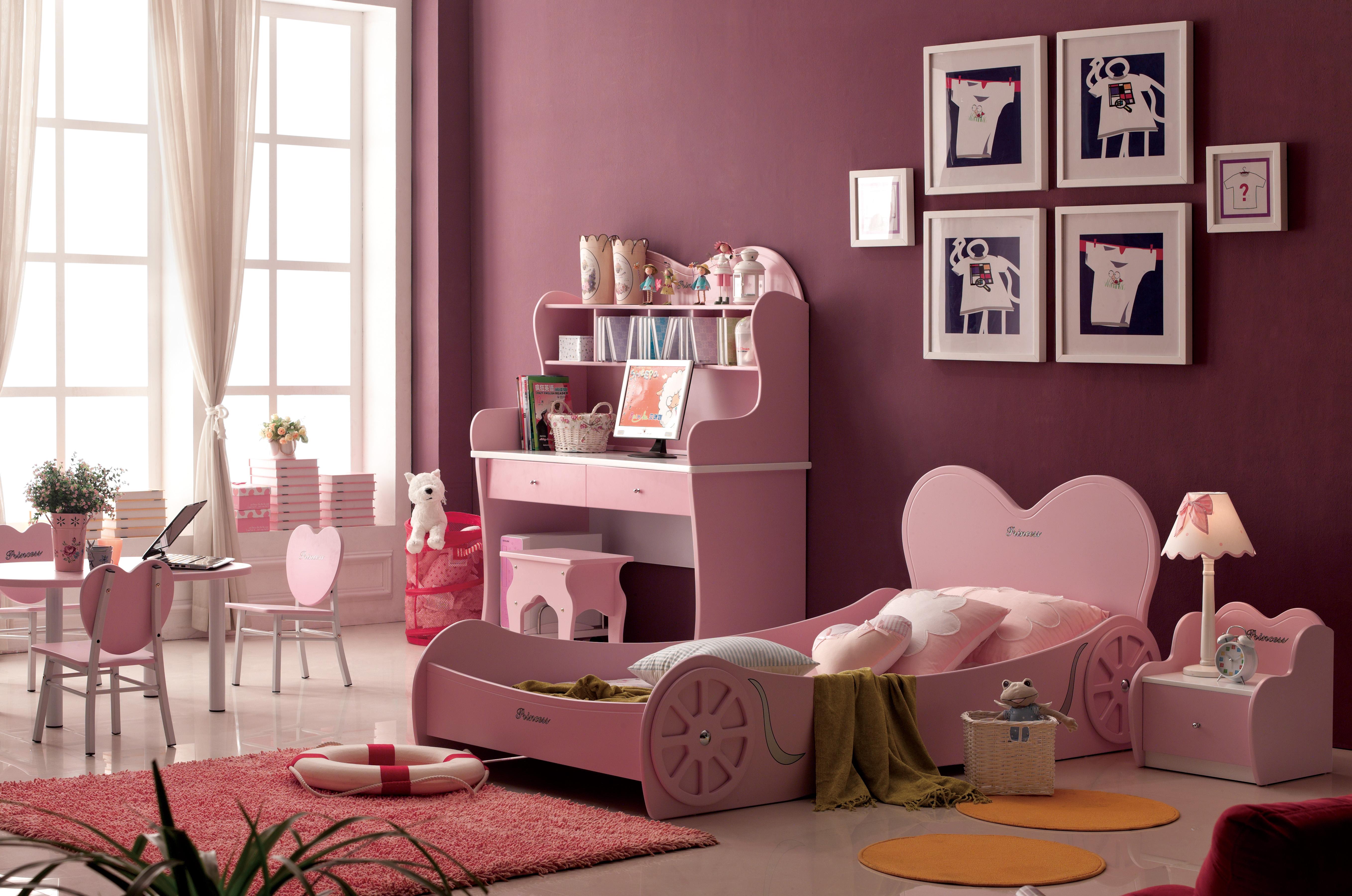 Розовая детская спальня для девочки Принцесса, спальня