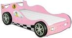 Детская кровать-машина из МДФ с подсветкой. Кровать - Гоночная машина Макларен - Mc Laren Racing Car СО СВЕТЯЩИМИСЯ ФАРАМИ, артикул 998, цвет синий. Всего выпускается 3 цвета: красный, синий, розовый.  Детская кровать-машина в комплекте с кокосовым матрасом.
