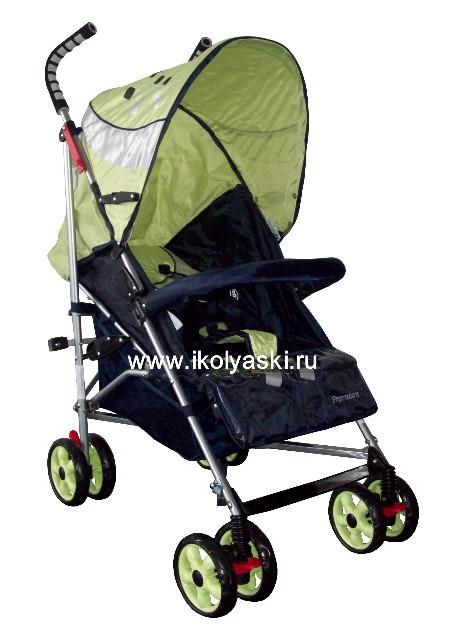 Детская коляска-трость Bimbo Emily DT02 PREMIUM, артикул С 6, код 138447, Бимбо Эмили Премиум, цвет синий с зеленым