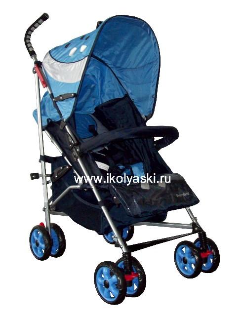 Детская коляска-трость Bimbo Emily DT02 PREMIUM, артикул С 5, код 138446 , Бимбо Эмили Премиум, цвет синий с голубым
