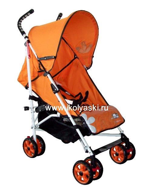 Детская коляска-трость Bimbo Emily DT02 PREMIUM, артикул С 2, код 138443 , Бимбо Эмили Премиум, цвет ярко-оранжевый