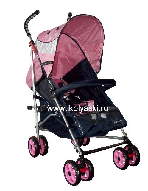 Детская коляска-трость Bimbo Emily DT02 PREMIUM, артикул С 3, код 138444, Бимбо Эмили Премиум, цвет синий с розовым