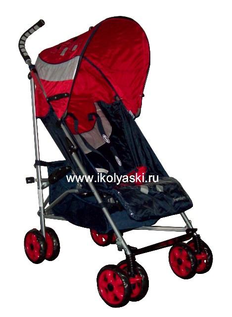 Детская коляска-трость Bimbo Emily DT02 PREMIUM, артикул С 4, код 138445 , Бимбо Эмили Премиум, цвет синий с красным
