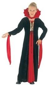 Детский карнавальный костюм Королевы Вампиров, костюм Вампирши, артикул Е3380, размер на 4-6 лет, фирма Snowmen.