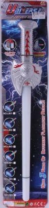Меч Джедаев, светящийся лазерный джедайский меч, игрушечное оружие на батарейках со светом и звуком,  на картонке, код 158548, артикул L803 T810-H24001, фирма Лапландия. Прекрасный аксессуар к новогодним карнавальным, маскарадным костюмам джедаев, к