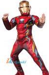Костюм Железного человека с мускулами и с маской, костюм АЙРОНМЕНА с мускулатурой и с маской, новинка 2017,  размер S, рост 110-120 см,  на 4-6 лет, Лапландия
