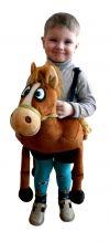 костюм коня, костюм коня купить, костюм коня для мальчика, Детский карнавальный костюм Рыжего Коня на шлейках, с зубами, карнавальный костюм из искусственного меха, карнавальный костюм для детей от 2 до 6 лет, детские карнавальные костюмы, карнавальн