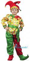 Костюм Петрушки, костюм Скомороха. Детский карнавальный костюм сказочного Петрушки фирмы Карнавалия, размер S на рост 110-122 см.