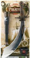 Набор Пирата: меч, подзорная труба и компас 838-11, артикул К31541, фирма SNOWMEN. Аксессуар к карнавальному костюму пирата Джека Воробья