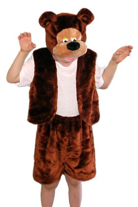 Жилетка и шорты мишки бурого цвета с отливом плюшевой ткани позволят  маленькому герою чувствовать себя настоящим. Костюм Медведя ... 899b470033cb3