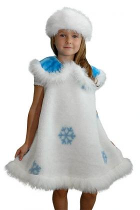 детский карнавальный , новогодний, костюм Снежинки