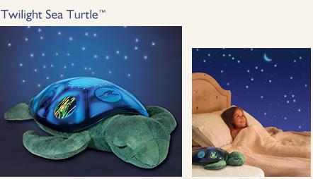 Хит продаж американских магазинов детских товаров!  Впервые в России! Только у нас! Детская мягкая игрушка для комфортного засыпания - ночник, светильник, проецирующий звезды на потолок, Twilight Sea Turtle - Звёздная морская Черепашка, американская фирма CloudB - КлаудБи