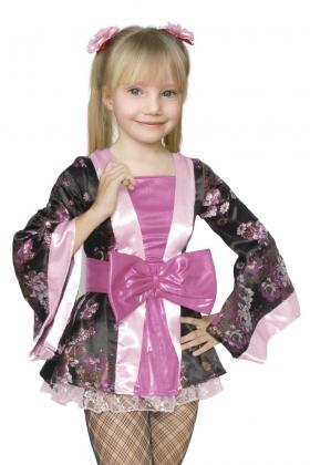 Детский карнавальный костюм Японки для девочки.