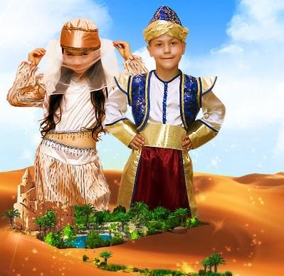 детский карнавальный костюм восточной красавицы, принцессы Жасмин...