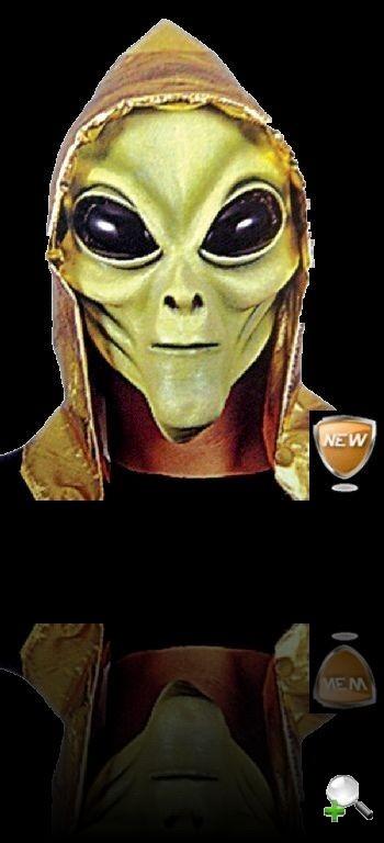 маска пришельца, инопланетянина, с капюшоном, маска латекс