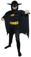 Детский карнавальный костюм Бэтмена с мускулатурой, на 4-6, 7-10, 11-14 лет,  фирмы Snowmen артикул Е70842
