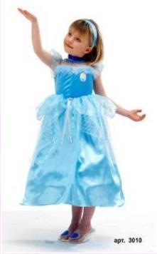 Детский карнавальный костюм Золушки, костюм Синдереллы, серия Дисней,  Cinderella,  Disney Princess, артикул 3010, на 3-4 года и 5-6 лет