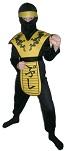 Детский карнавальный костюм Ниндзя Дракон желтый, на 4-6, 7-10, 11-14 лет, фирмы Snowmen артикул Е60447