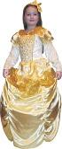 Детский карнавальный костюм Прекрасной Принцессы фирмы Snowmen артикул Е70825. Шикарное нарядное новогоднее бальное платье в комплекте с каркасом