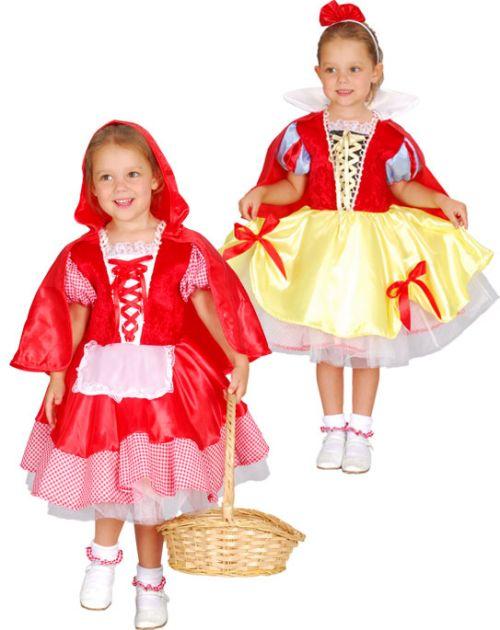 Внимание! Новинка! Детский карнавальный костюм - трансформер Белоснежка и Красная Шапочка на 1-2 и 3-4 года, фирмы Snowmen артикул Е80744 . 2 костюма в одном. Двусторонний костюм. Карнавальный костюм - трансформер