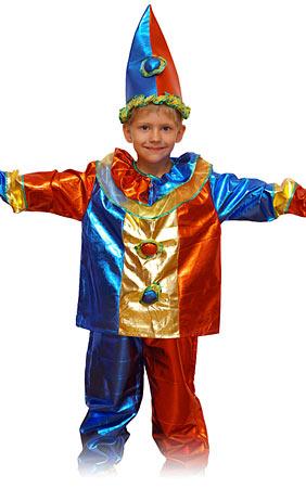 детский карнавальный костюм клоуна, магический клоун