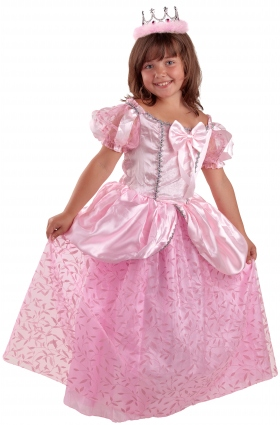 Детский карнавальный костюм Королевы, розовое платье, серия Карнавалия, производитель Остров игрушки. на рость 122 и 132 см