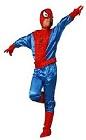 Костюм Человека Паука с перчатками, детский карнавальный костюм Спайдермена, фирма Шампания, на 7-12 лет