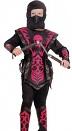 Детский карнавальный костюм Ниндзя Красный Огонь, на 4-6, 7-10, 11-14 лет,  фирмы Snowmen артикул Е70821. В комплекте: кофта, штаны, шапка-маска, жилет с отделкой из искусственной кожи, накладки на руки и на ноги.