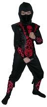 Костюм Ниндзя Красный Огонь ,  на 4-6, 7-10, 11-14 лет, Snowmen, артикул Е70821, отделка - искусственая кожа