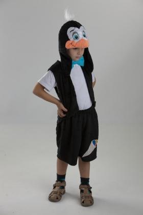 Детский карнавальный костюм Пингвина, костюм Пингвинчика, Пингвинёнка, маскарадный костюм из мягкого плюша серии Карнавалия Плюш, фирмы Остров игрушки, производства России