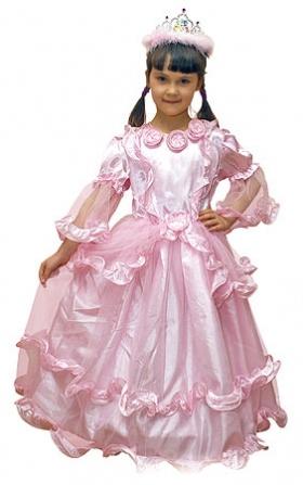 Детский карнавальный костюм Принцессы,  розовый, серии Карнавалия фирмы