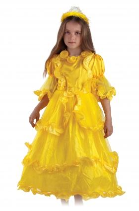 Детский карнавальный костюм Принцессы, желтый,   серии Карнавалия фирмы