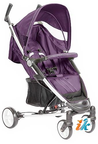 Детская прогулочная КОЛЯСКА Lider Kids  S401B VIKI, Лидер Кидс S-401-B, 4-х колесная, супер легкая и компактная коляска на алюминиевой раме, с накидкой на ноги, дождевиком, сумкой для транспортировки и рюкзаком. Цвет баклажан.