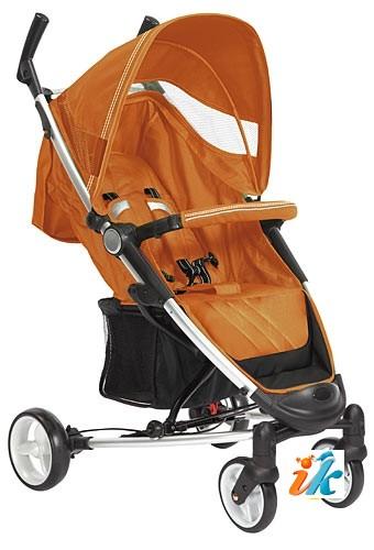 Детская прогулочная КОЛЯСКА Lider Kids  S401B VIKI, Лидер Кидс S-401-B, 4-х колесная, супер легкая и компактная коляска на алюминиевой раме, с накидкой на ноги, дождевиком, сумкой для транспортировки и рюкзаком. Цвет ОРАНЖЕВЫЙ