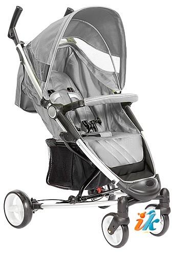 Детская прогулочная КОЛЯСКА Lider Kids  S401B VIKI, Лидер Кидс S-401-B, 4-х колесная, супер легкая и компактная коляска на алюминиевой раме, с накидкой на ноги, дождевиком, сумкой для транспортировки и рюкзаком. Цвет СЕРЕБРИСТЫЙ