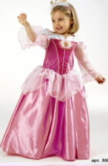 Детский карнавальный костюм Спящая красавица , бальное платье принцессы Авроры из мультфильма
