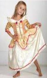 Детский карнавальнй костюм Золотая Принцесса Спящая Красавица, золотое платье принцессы Авроры, героини мультфильма Уолта Диснея, Sleeping Beauty Walt Disney  , артикул 7043, на 5-6, 7-8, 9-10 лет