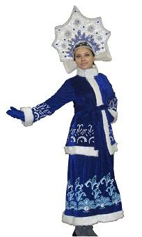 костюм СНЕГУРОЧКИ СИНИЙ С УЗОРАМИ, артикул H-1706, код 84868, фирма Лапландия