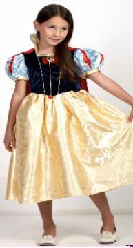 Детский карнавальный костюм Белоснежка,  классическое платье Белоснежки, героини мультфильм Уолта Диснея Белоснежка и семь гномов, артикул 7057, на 5-6 и 7-8 лет